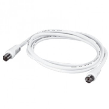 Male/female patch cord for TV connection - Ø 9.52 - 2 m