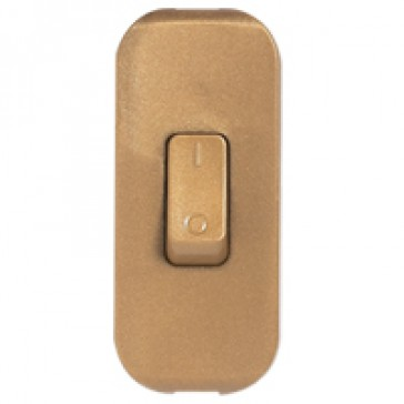 Cord switch - 2P - 2 A 250 V~ - coloured - olg gold
