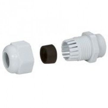 Cable gland plastic - IP55 - PG 13.5 - clamping capacity 7-12 mm - RAL 7001