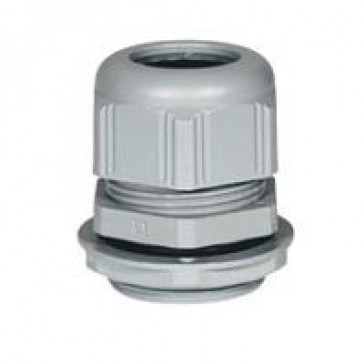 Cable gland plastic - IP68 - ISO 12 - clamping capacity 3-6.5 mm - RAL 7001