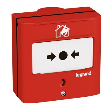 Manual call point for fire detection/alarm system -conventional -1 NO/NC -5 A -24 V= -RAL 3000