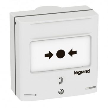 Emergency shutdown control device -2 NO/NC + 2 lights -5 A -24 V= -RAL 9003
