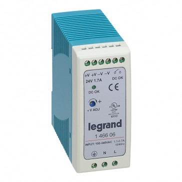 Stabilised switched modules power supply - single-phase - 20-60 W-output 24 V= -40 W