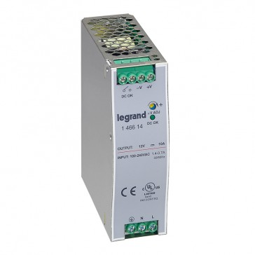 Stabilised switched modules power supply -single-phase -75-960 W-output 12 V= -120 W