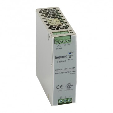 Stabilised switched modules power supply -single-phase -75-960 W-output 48 V= -120 W
