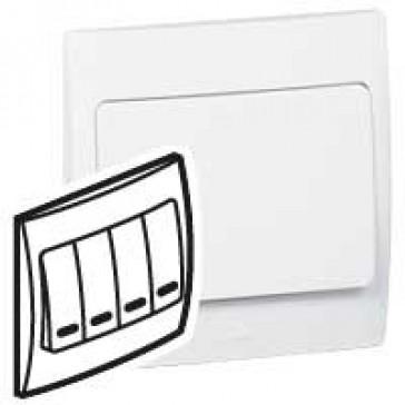 Illuminated switch Mallia - 4 gang - 1 way - 10 AX 250 V~ - white