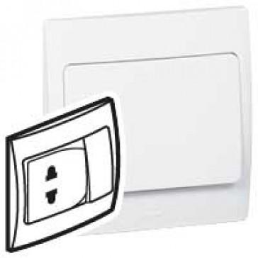 Socket outlet Mallia - Euro/US standard 10/16 A - 2P + 10 A switch 250 V~ - white