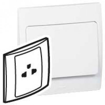 Socket outlet Mallia - Euro/US standard 10/16 A - 2P+E - 1 gang 250 V~ - white