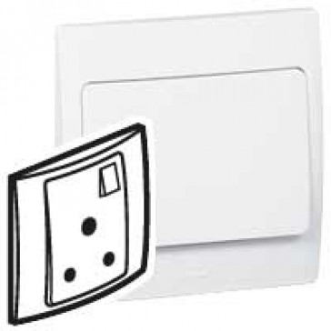 Socket outlet Mallia - switched - 1 gang - 5 A 250 V~ - white