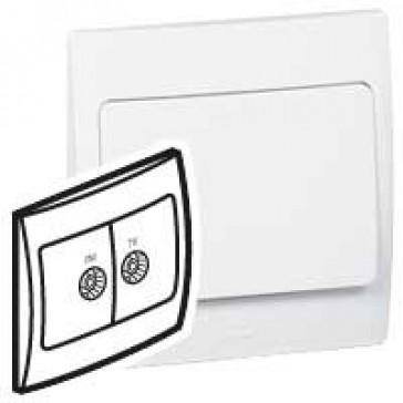 TV-R socket Mallia - white