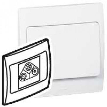 TV-R-SAT socket Mallia - white