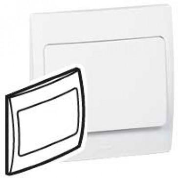 Blanking plate Mallia - 1 gang - white