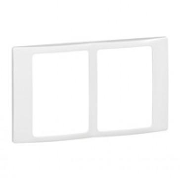 Plate Mallia - 2x1 gang - white