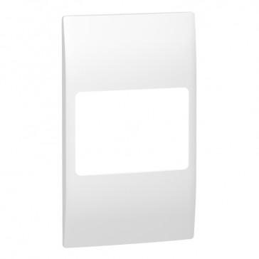 Plate Mallia - 2 gang vertical - white