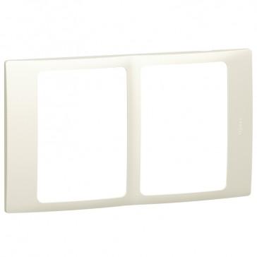 Plate Mallia - 2x1 gang - pearl