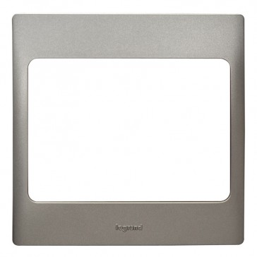 Plate Mallia - 1 gang - dark silver