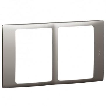 Plate Mallia - 2x1 gang - dark silver