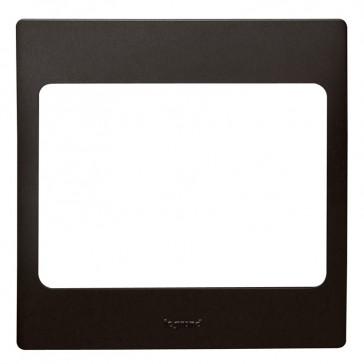 Plate Mallia - 1 gang - matt black