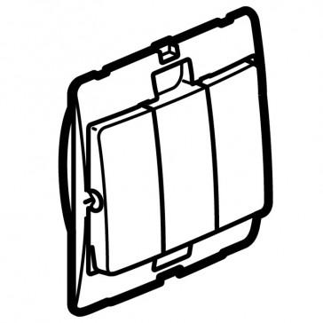 Single pole switch Mallia - 3 gang - 1 way - 10 AX 250 V~ - silver