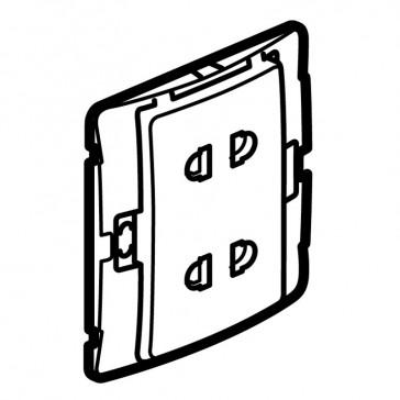 Socket outlet Mallia - Euro/US standard 10/16 A - 2P - 2 gang 250 V~ - silver