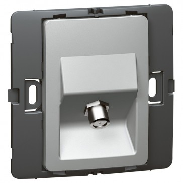 TV socket Mallia - female ''F'' type socket - silver