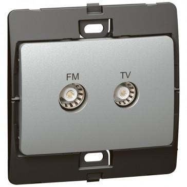 TV-R socket Mallia - silver