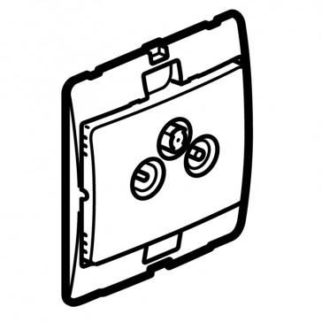 TV-R-SAT socket Mallia - silver