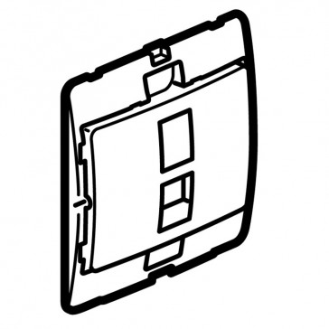 Telephone socket Mallia - RJ 11 - 4 contacts - silver