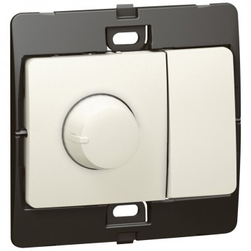 Dimmer Mallia - 500 W rotary control dimmer + 2 way switch - pearl