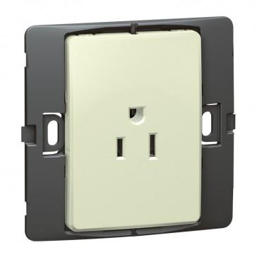 2P+E US standard socket outlet Mallia - 15 A-127 V - SASO agreement - 1 gang -pearl