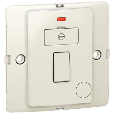 Fused connection unit Mallia - switched + Led - 13 A - pearl
