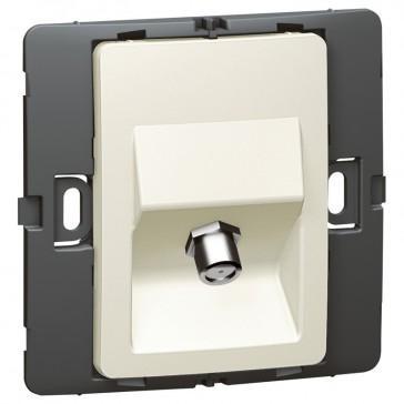 TV socket Mallia - female ''F'' type socket - pearl