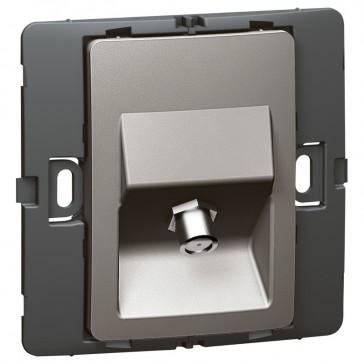TV socket Mallia - female ''F'' type socket - dark silver