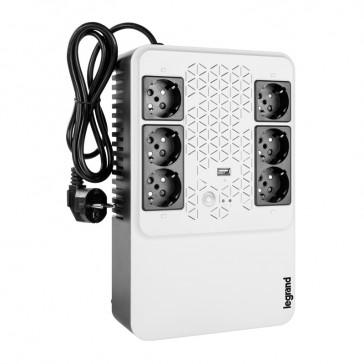 Keor multiplug Line interactive UPS 600 VA - 360 W - 4+2 German standard output sockets