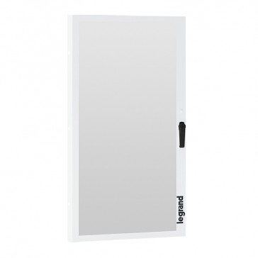 Glass door for XL³ S 630 cabinets - 36 modules wide - for cabinets with faceplate height 1350 mm