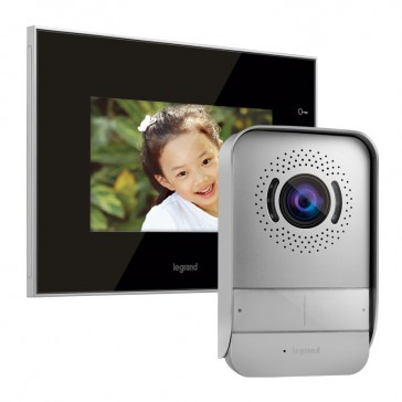 """Video door entry kit with 7"""" mirror effect LCD colour display"""