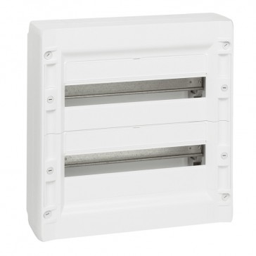 Distribution cabinet XL³ 125 - 2 rows - 36 modules - surface mounting