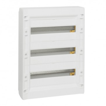Distribution cabinet XL³ 125 - 3 rows - 54 modules - surface mounting