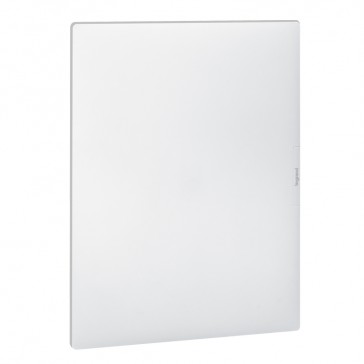 Flush-mounting cabinet Practibox³ - with earth - white door - 54 modules