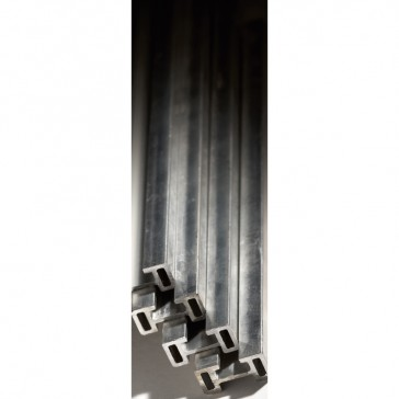 C-section aluminium bar 30x14 mm - length 1600 mm and cross section 238 mm