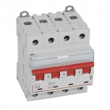 Remote trip head isolating switch DX-IS - visible load break - 4P 400 V~ - 40 A