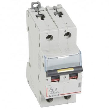MCB - DX³ - 16 kA - direct current - 12 V= to 500 V= - 2P - 0.5 A