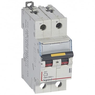 MCB - DX³ - 16 kA - direct current - 12 V= to 500 V= - 2P - 3 A