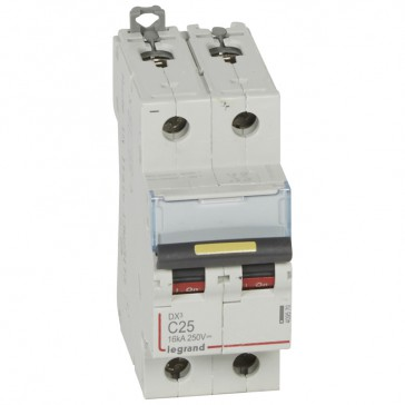 MCB - DX³ - 16 kA - direct current - 12 V= to 500 V= - 2P - 25 A