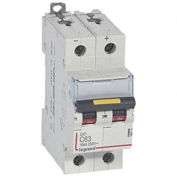 MCB - DX³ - 16 kA - direct current - 12 V= to 500 V= - 2P - 63 A