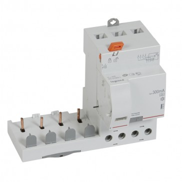 Add-on modules DX³ - 4P 400 V~ - 40 A - 300 mA - A type - for 1 module DX³ MCB