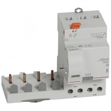 Add-on modules DX³ - 4P 400 V~ -63 A-300 mA selective -A type -1 module DX³ MCB