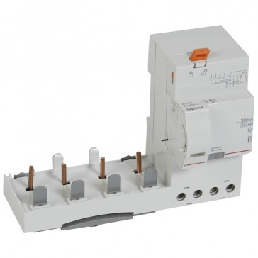 Add-on modules DX³ - 4P 400 V~ - 63 A - 30 mA - Hpi type - for 1.5 modules DX³ MCB