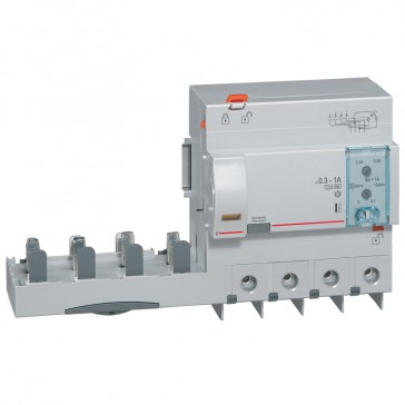 Add-on modules DX³ - 4P-400 V~ -125 A-300/1000 mA adjustable -Hpi type -1.5 modules DX³ MCB