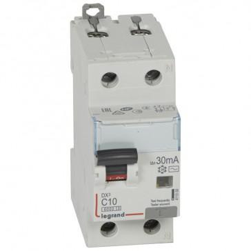RCBO - DX³ 6000 -10 kA -1P+N-230 V~ -10 A -30 mA -AC type -N right hand